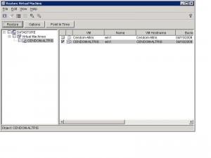 IBM TSM Restore VM