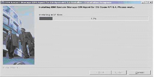 ibm-ds8000-setup-cim-agent-installation-progress