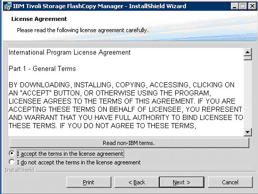 ibm-tivoli-flashcopy-manager-accept-the-agreement