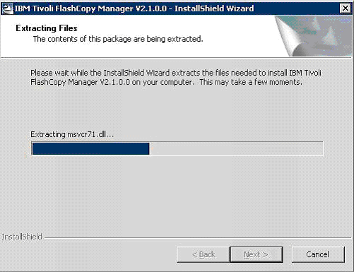 ibm-tivoli-flashcopy-manager-wait-extract-wizard-to-complete