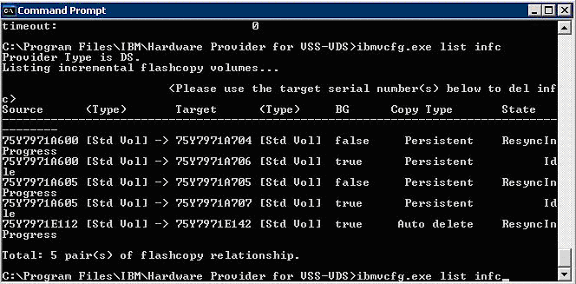 ibmvcfg-list-infc-check-flashcopy-background-copy-finished