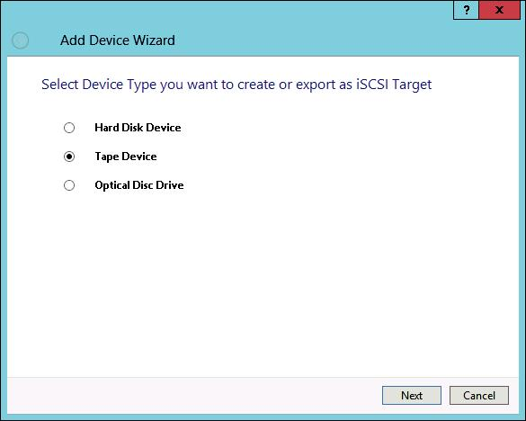 StarWind VTL Add Device Wizard Add Tape Device
