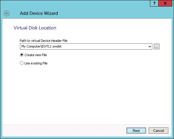 StarWind VTL Choose Virtual Device header file